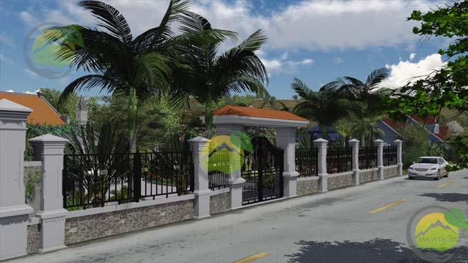 Mẫu thiết kế sân vườn nhà thờ họ 4