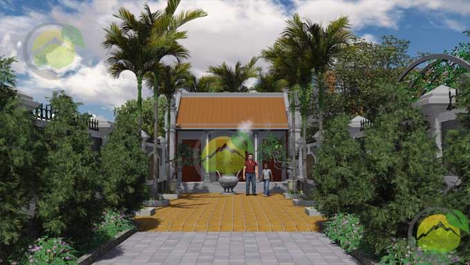 Mẫu thiết kế sân vườn nhà thờ họ 7