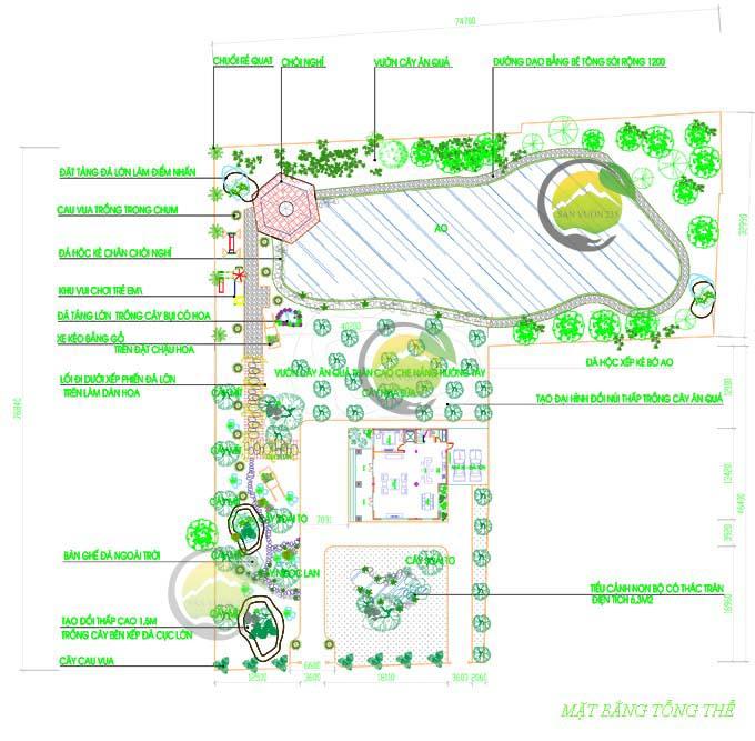 Mẫu thiết kế tiểu cảnh sân vườn cho biệt thự tân cổ điển 1