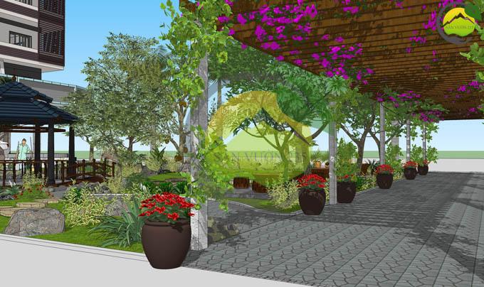 Thiết kế sân vườn đẹp trước nhà 6