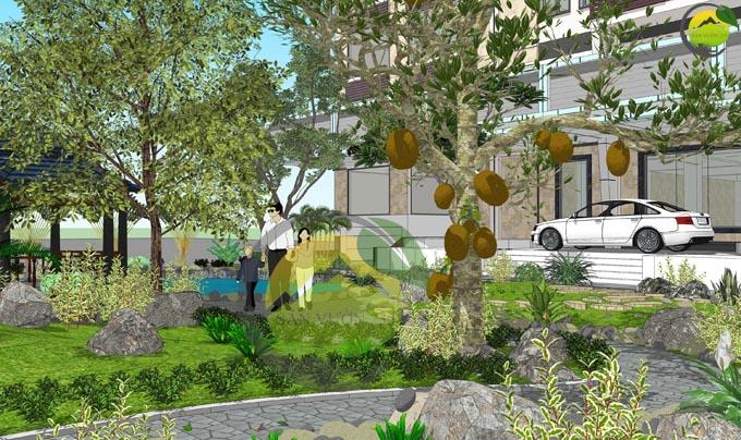 Thiết kế sân vườn đẹp trước nhà 3