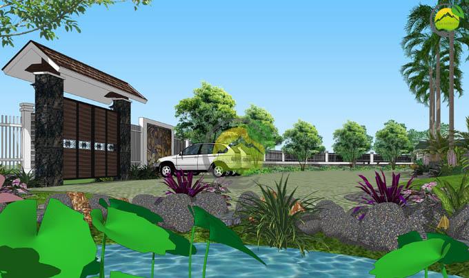 Mẫu quy hoạch thiết kế nhà vườn nghỉ dưỡng 4