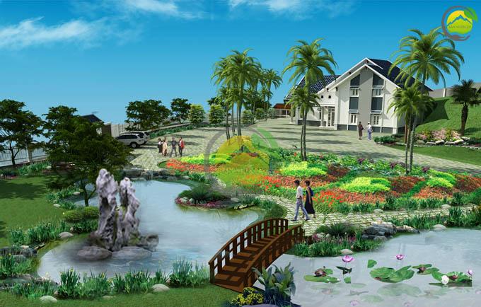 Mẫu quy hoạch thiết kế nhà vườn nghỉ dưỡng 3