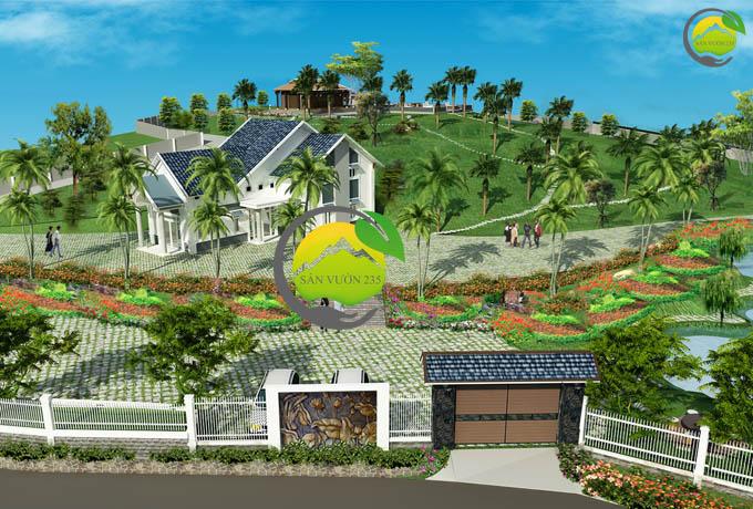 Mẫu quy hoạch thiết kế nhà vườn nghỉ dưỡng 2