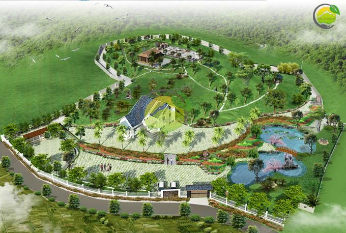 Mẫu quy hoạch thiết kế nhà vườn nghỉ dưỡng 1