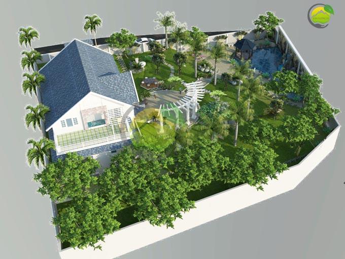 mẫu thiết kế sân vườn đẹp tại Sơn La 1