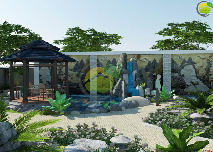 mẫu thiết kế sân vườn đẹp tại Sơn La 2