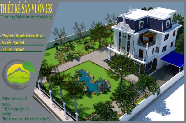 Mẫu thiết kế sân vườn biệt thự tại Nam Định