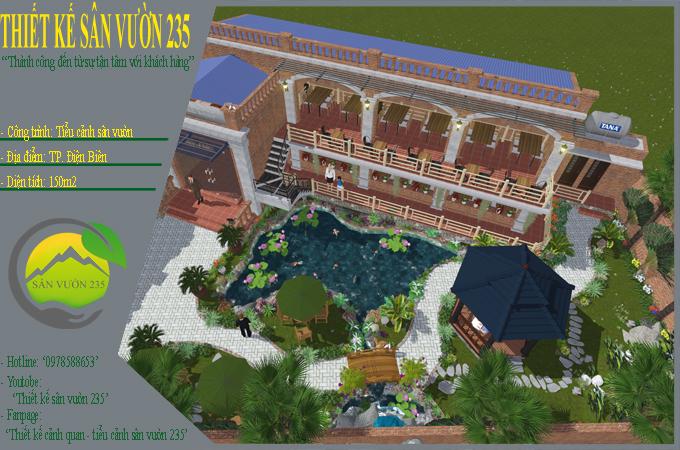 Mẫu thế kế sân vườn quán cafe đẹp tại Điện Biên 0
