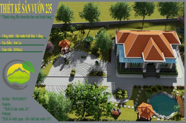 Thiết kế nhà vườn 2000m2 tại Sơn La