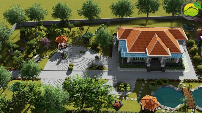 Mẫu thiết kế nhà vườn 1 tầng tại Sơn La 1