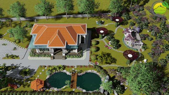 Mẫu thiết kế nhà vườn 1 tầng tại Sơn La 10