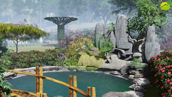 Mẫu thiết kế nhà vườn 1 tầng tại Sơn La 2