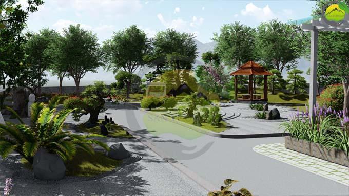 Mẫu thiết kế nhà vườn 1 tầng tại Sơn La 3
