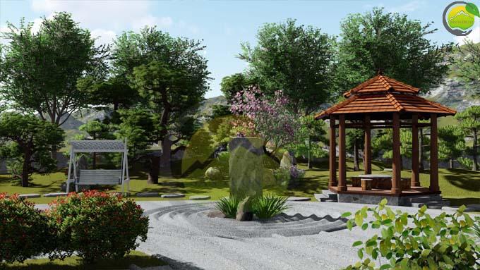 Mẫu thiết kế nhà vườn 1 tầng tại Sơn La 6