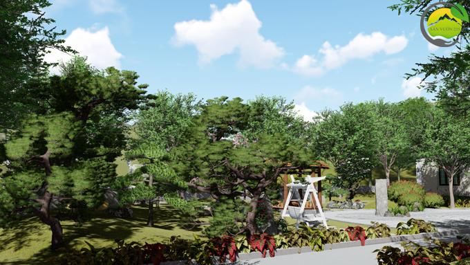 Mẫu thiết kế nhà vườn 1 tầng tại Sơn La 7