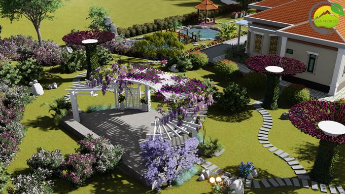 Mẫu thiết kế nhà vườn 1 tầng tại Sơn La 8