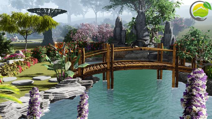Mẫu thiết kế nhà vườn 1 tầng tại Sơn La 9