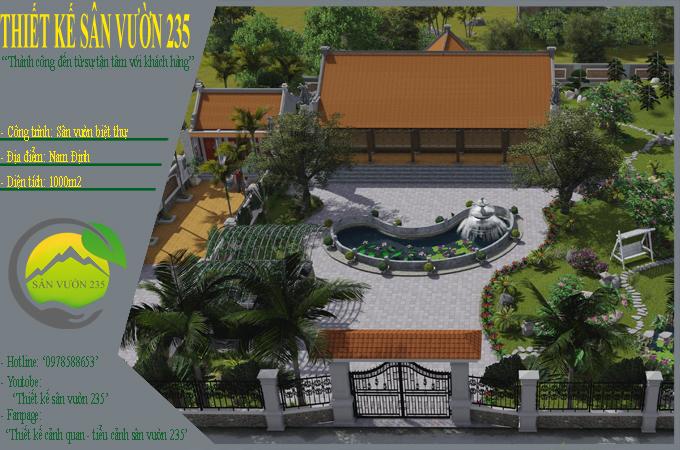 Mẫu thế kế sân vườn tại Nam Định