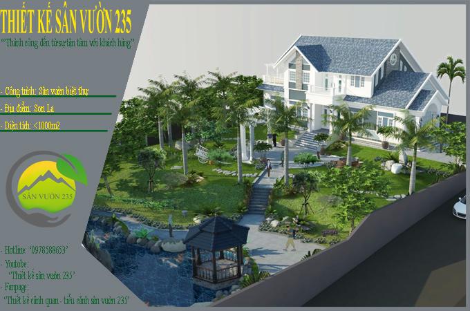 mẫu thiết kế sân vườn đẹp tại Sơn La 0
