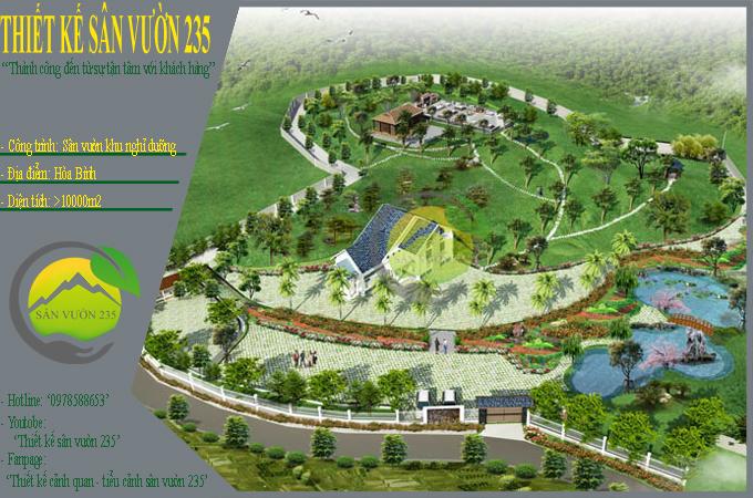 Mẫu quy hoạch thiết kế nhà vườn nghỉ dưỡng