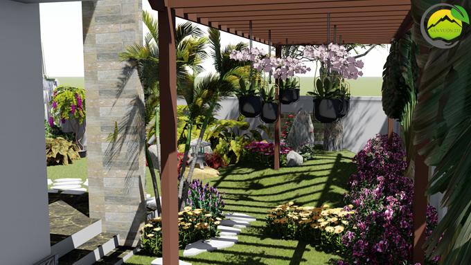 Mẫu thiết kế tiểu cảnh sân vườn tại Phú Thọ 6