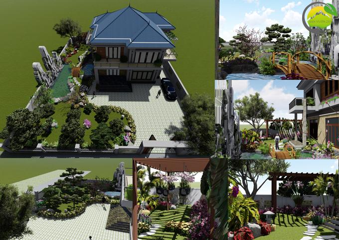 Mẫu thiết kế tiểu cảnh sân vườn tại Phú Thọ 7
