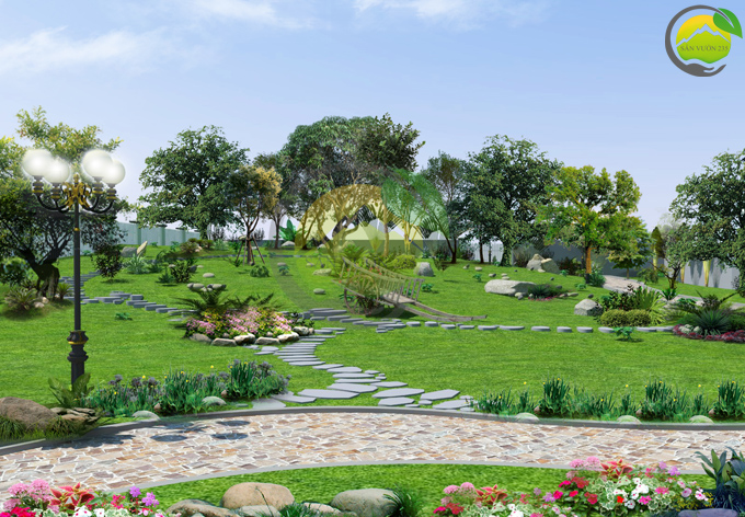Thiết kế sân vườn 1000m2 tại Ba Vì 1
