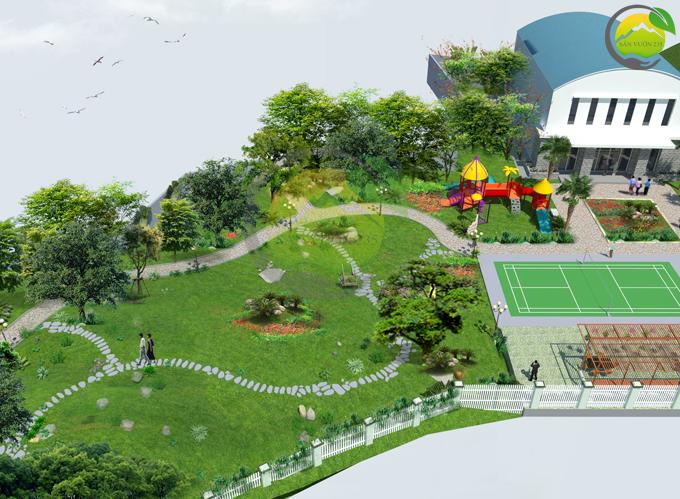 Thiết kế sân vườn 1000m2 tại Ba Vì 2