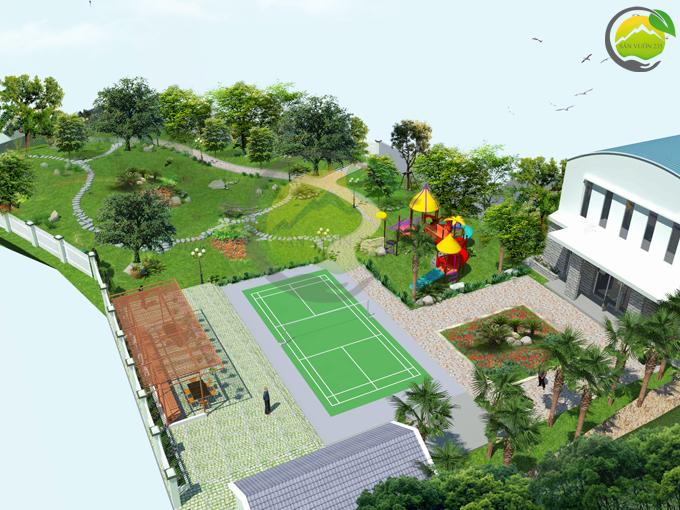 Thiết kế sân vườn 1000m2 tại Ba Vì 3