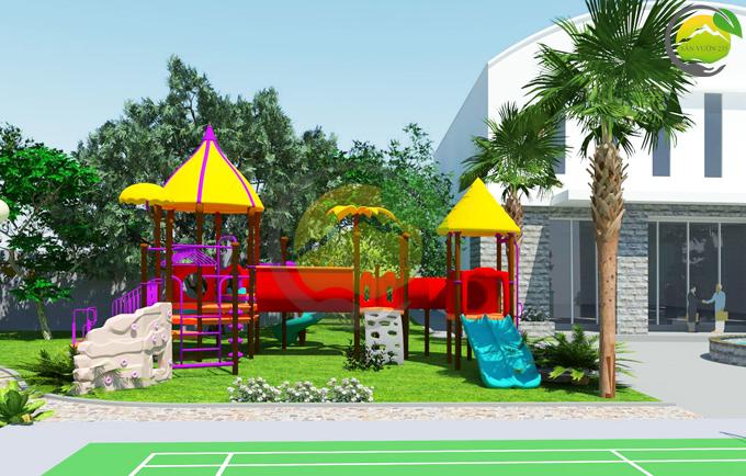 Thiết kế sân vườn 1000m2 tại Ba Vì 4