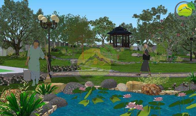 Thiết kế sân vườn 1000m2 tại Ba Vì 5