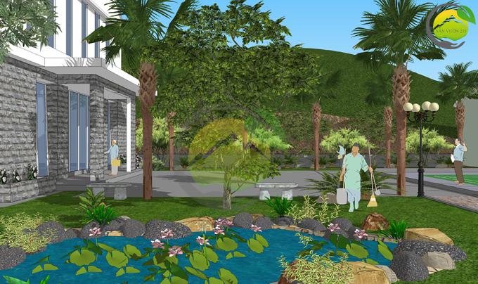 Thiết kế sân vườn 1000m2 tại Ba Vì 8