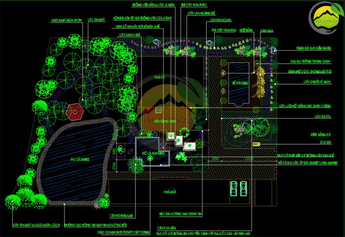 Thiết kế sân vườn tiểu cảnh tại Quốc Oai Hà Nội 7