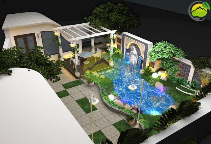 Thiết kế tiểu cảnh vườn sân thượng 2