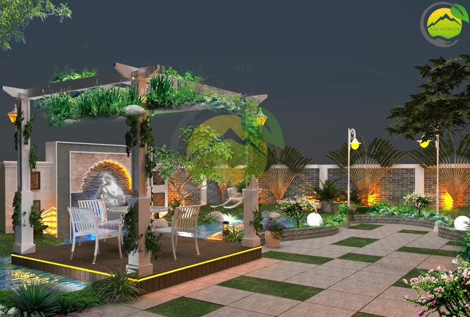 Thiết kế tiểu cảnh vườn sân thượng 3