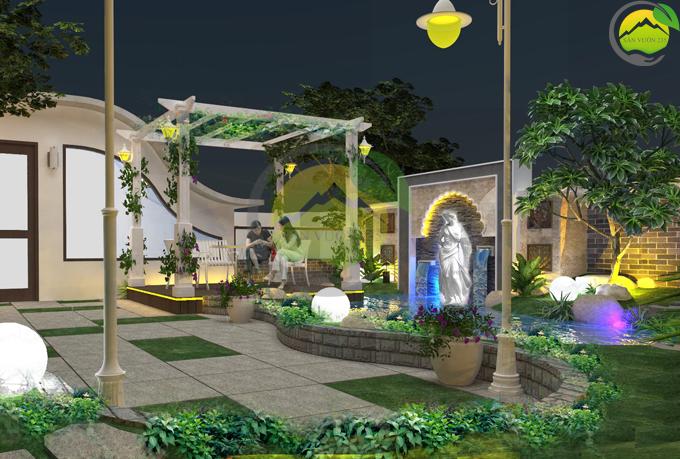 Thiết kế tiểu cảnh vườn sân thượng 4