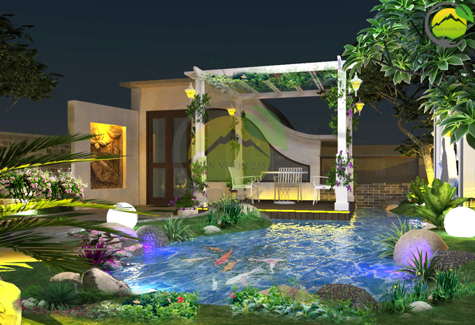 Thiết kế tiểu cảnh vườn sân thượng 5