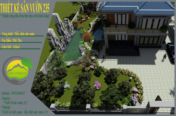 Mẫu thiết kế tiểu cảnh sân vườn tại Phú Thọ