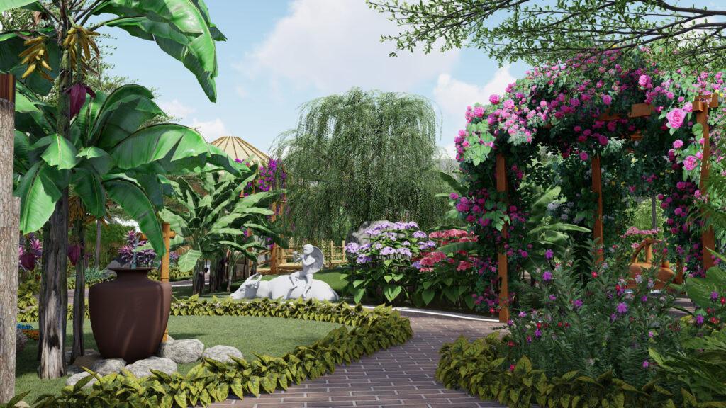 Thiết kế sân vườn tiểu cảnh 5