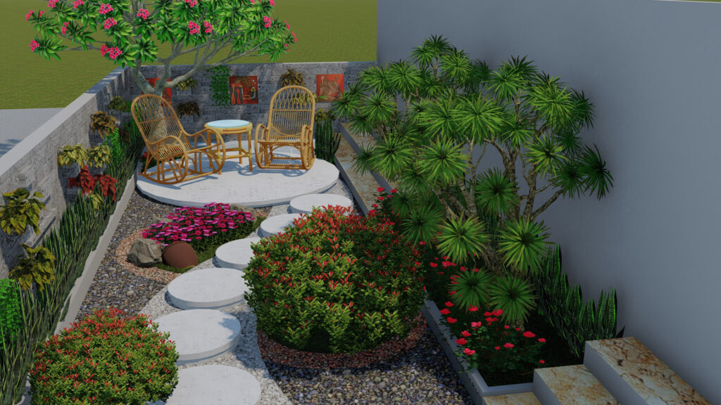 Thiết kế sân vườn tiểu cảnh 6
