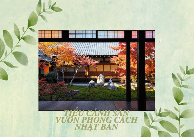 tiểu cảnh sân vườn phong cách Nhật Bản