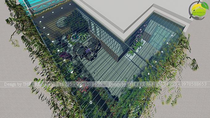 Mẫu thiết kế tiểu cảnh vườn sân thượng tại Ba Đình Hà Nội 6