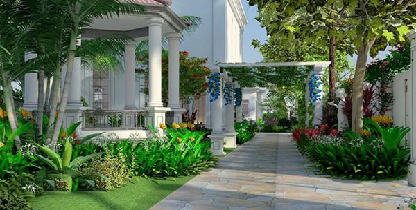 các mẫu sân vườn trước nhà đẹp