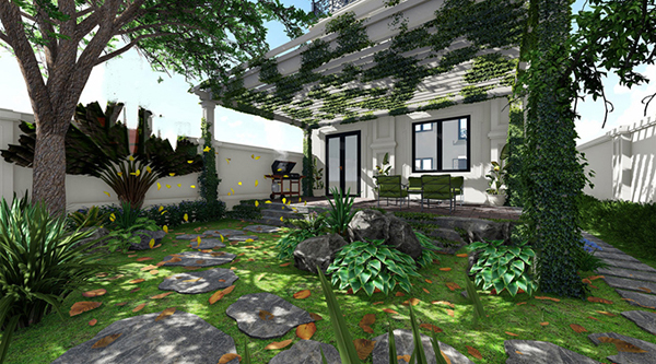mẫu sân vườn đẹp trước nhà