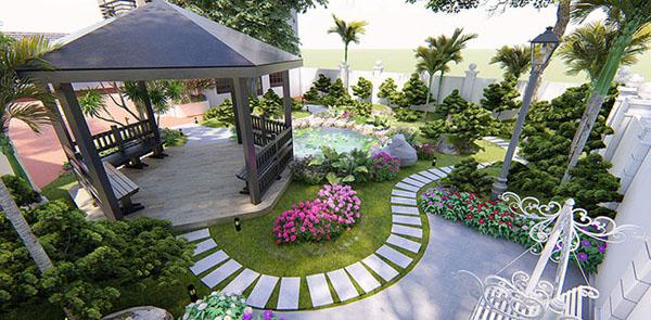 Mẫu thiết kế sân vườn trước nhà đẹp