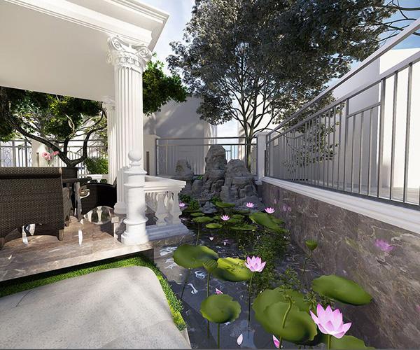 Phong cách sân vườn hiện đại