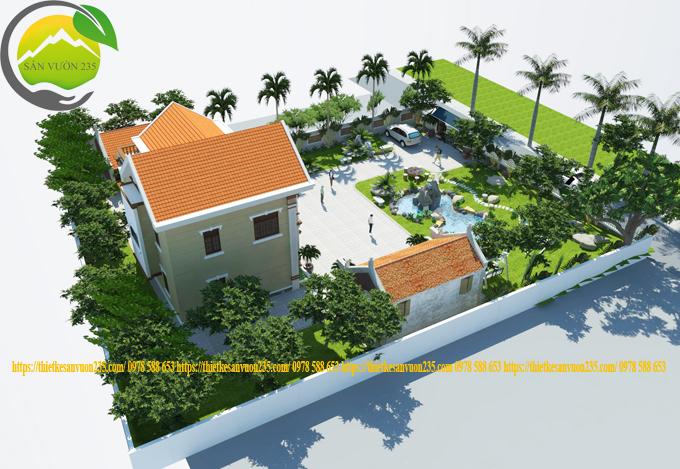 Quy hoạch cảnh quan sân vườn biệt thự
