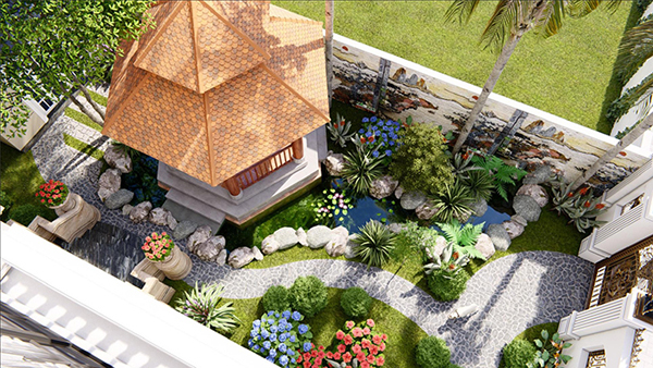 sân vườn nhỏ trước nhà đẹp