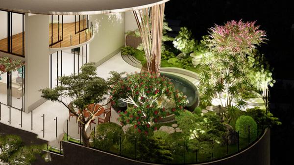 sân vườn phong cách hiện đại